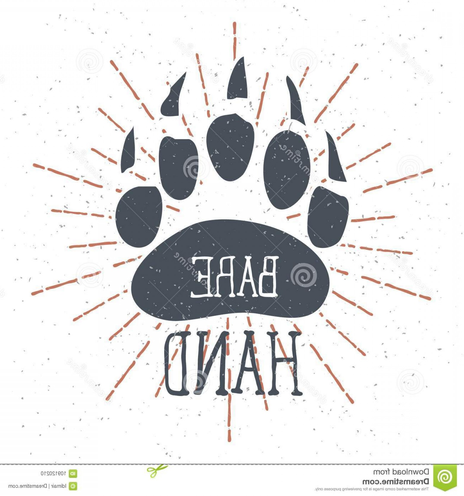 Bear Claw Vector