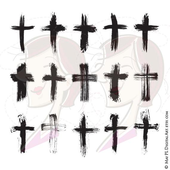 Cross Brush Vector