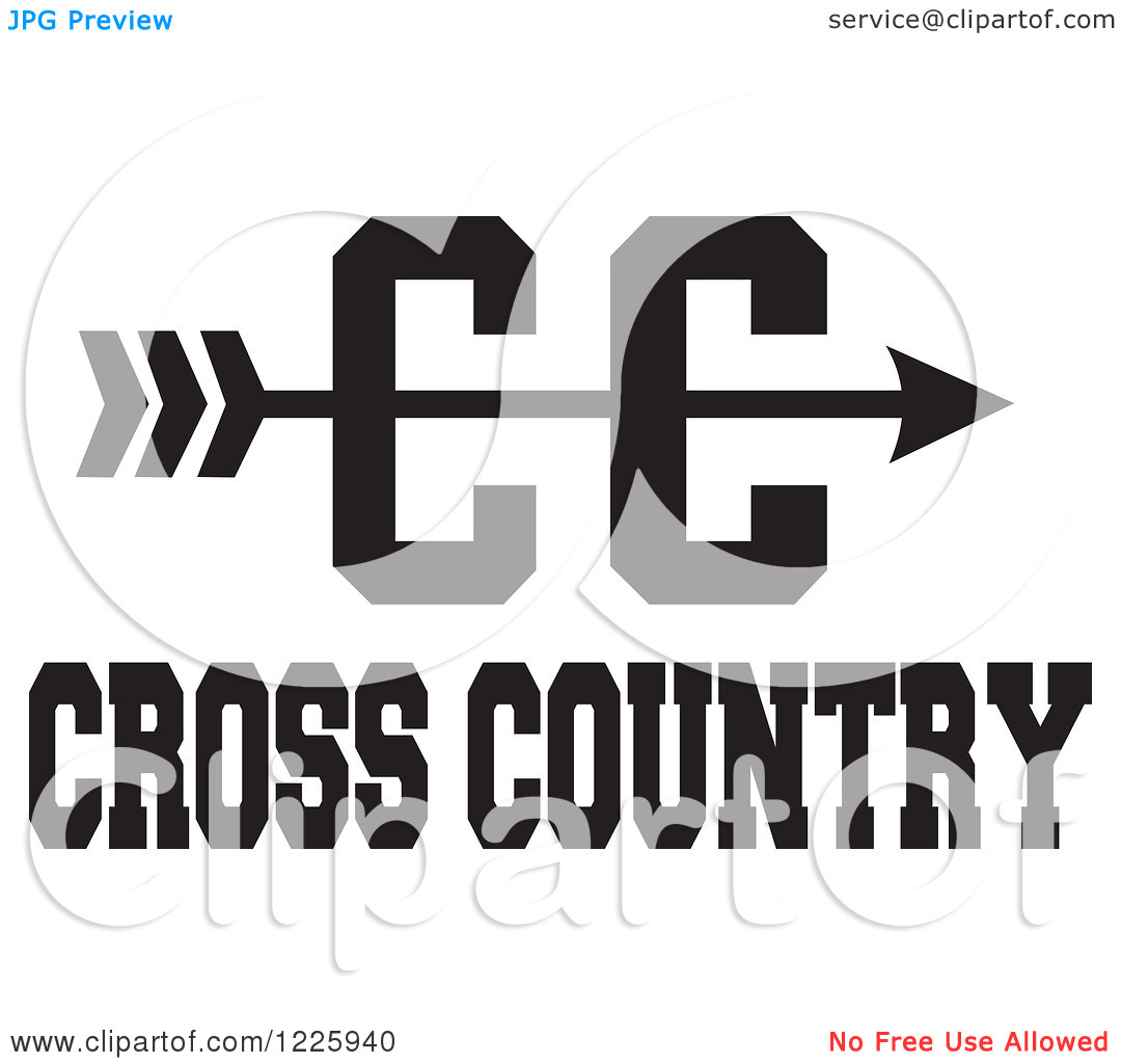 Cross Country Running Vector