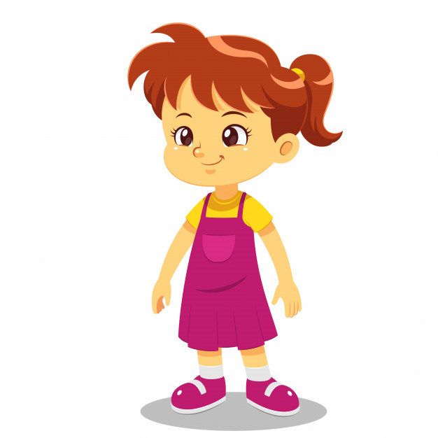 626x626 Girl Cartoon Vector Premium Download