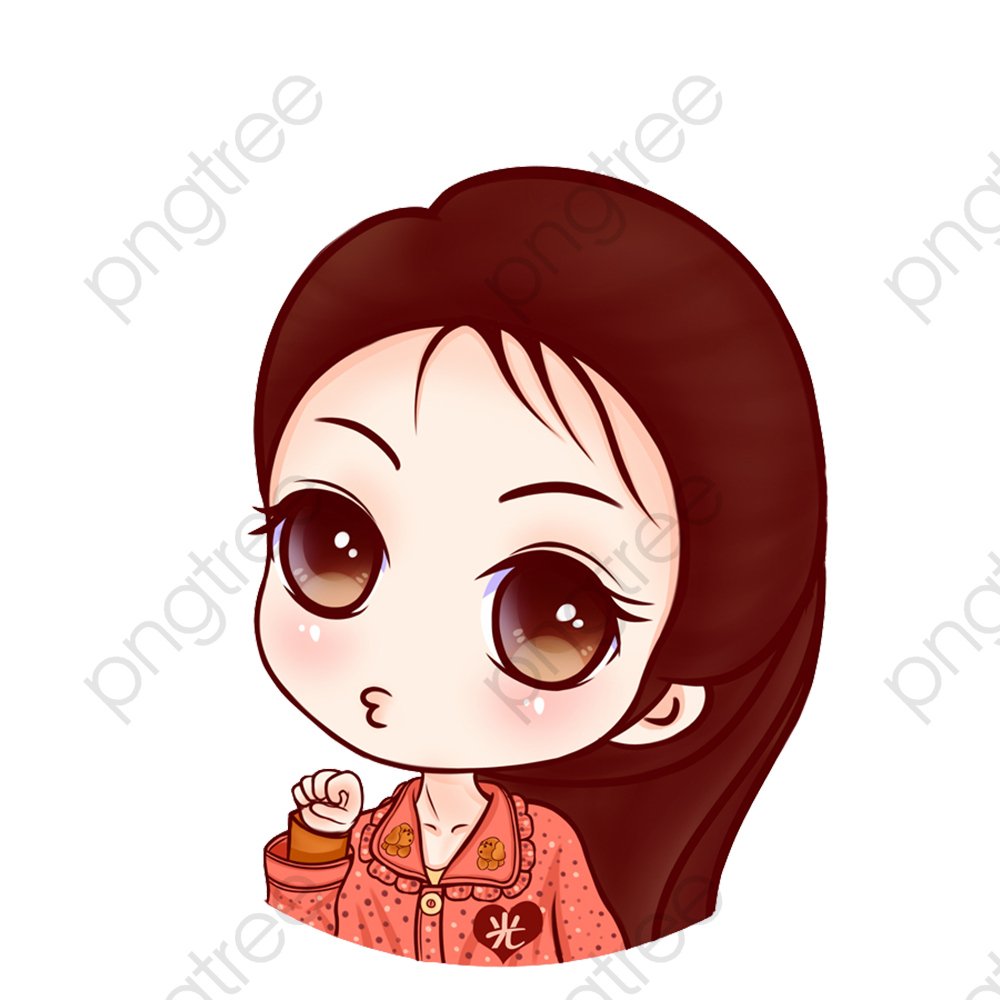 1000x1000 Cute Cartoon Girl, Lovely, Girl, Cartoon Png And Vector