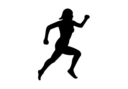 Girl Running Vector