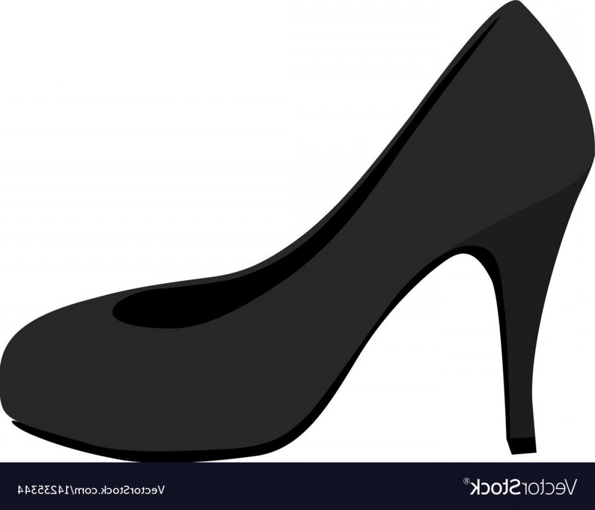 High Heel Silhouette Vector