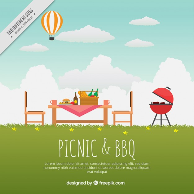 Picnic Background Vector